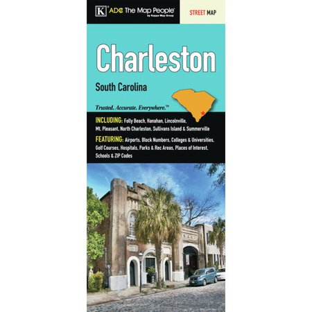 Universal Map Charleston Fold Map  Set Of 2