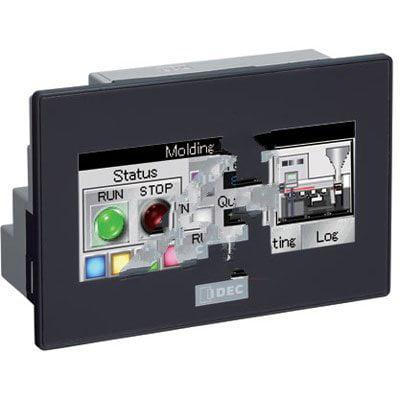 IDEC FT1A-C14SA-B PLC/Touch HMI 24VDC 3.8 TFT Color 14 I/O Sink In Trnsistr Source Out Black Bezel