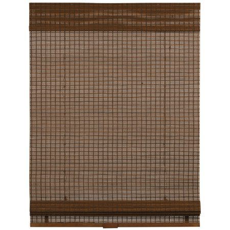 Coffee Cordless Panama Bamboo Roman Shades 33