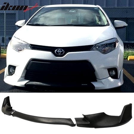 Fits 14-16 Toyota Corolla Base Model Front Bumper Lip 3 Pieces - PU Urethane