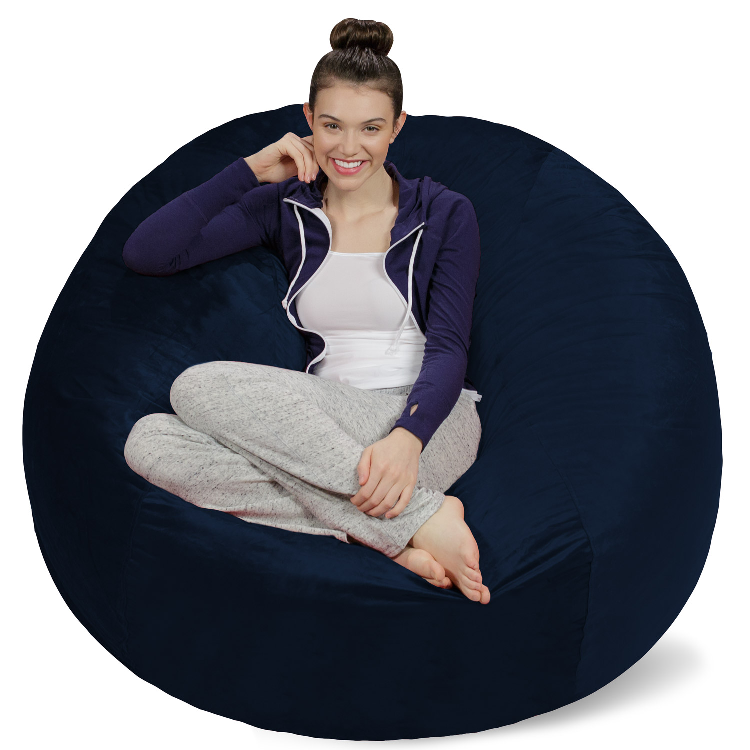 Sofa Sack Memory Foam Bean Bag Chair   5 Ft   Walmart.com
