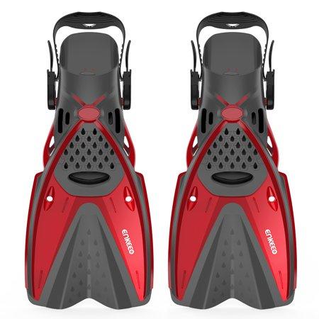 Cognac Fins - Enkeeo Snorkel Fins Short Blade Swimming Train Foot Filppers for Children and Adults