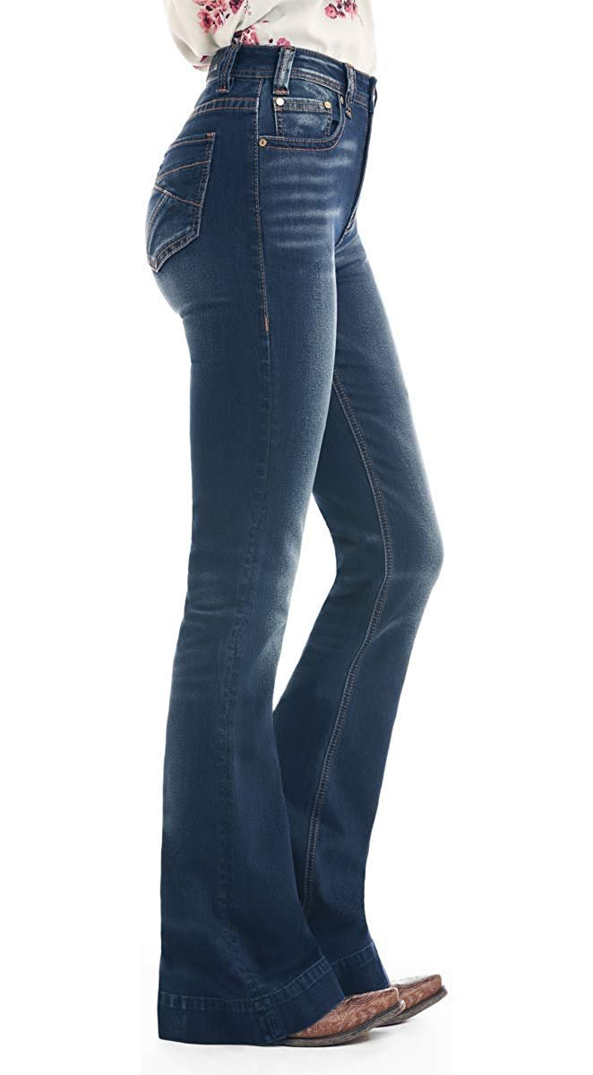 W8h1019 Rock /& Roll Cowgirl Womens and Basic Pocket Extra Stretch Denim Trousers