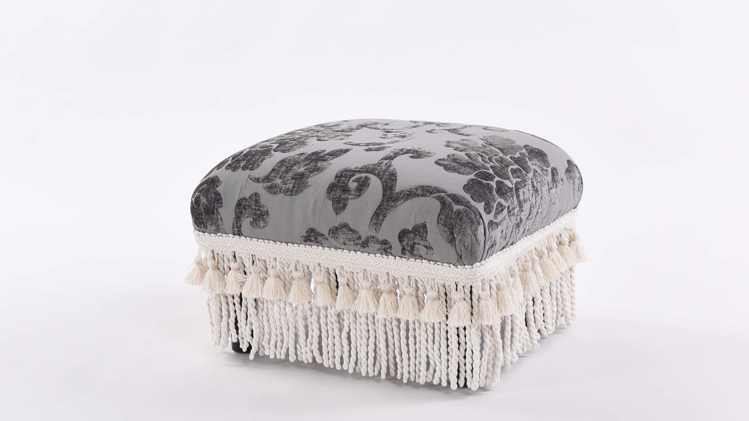 Fiona Footstool, Grey by ACG Green