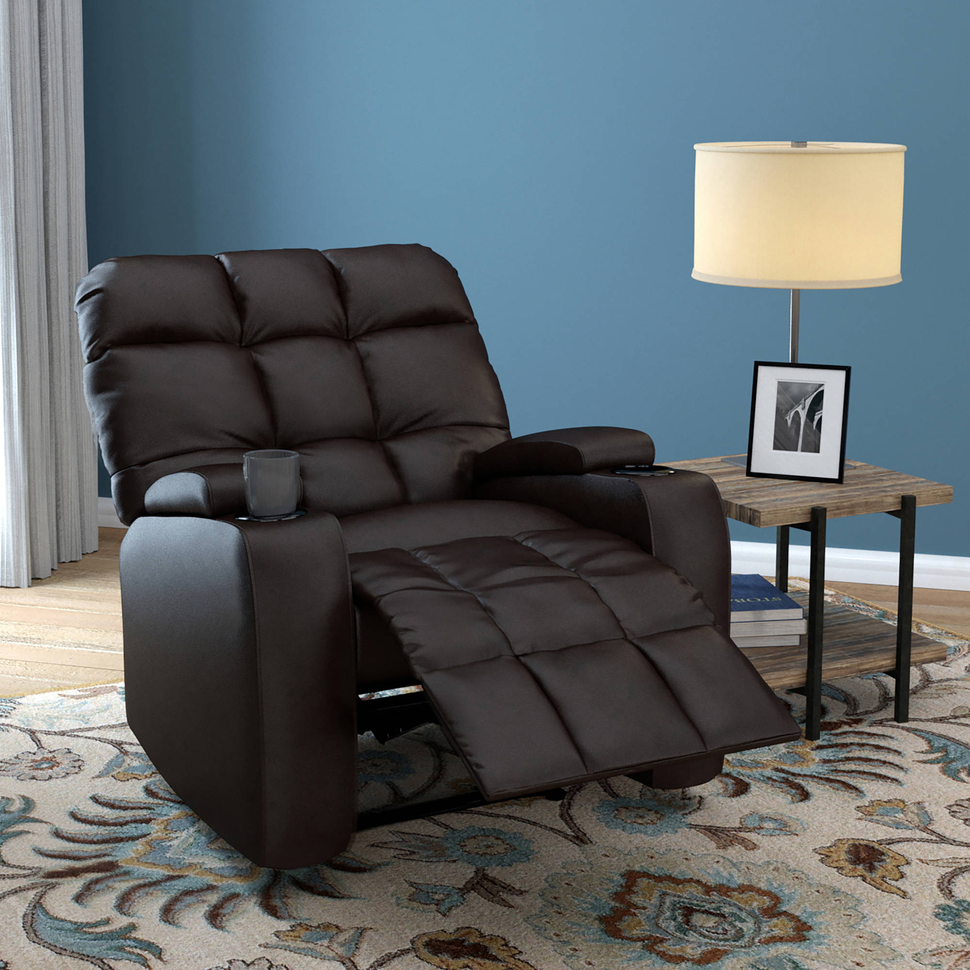 ProLounger Power Wall Hugger Storage Reclining Chair in Renu Leather, Multiple Colors