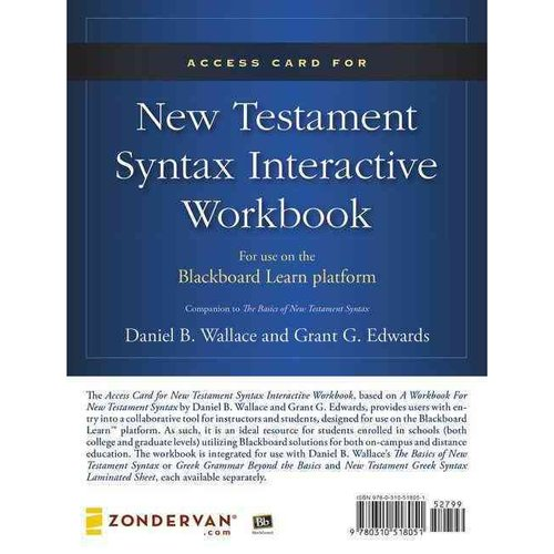 New Testament Syntax Access Card: For Use on the Blackboard Learn Platform