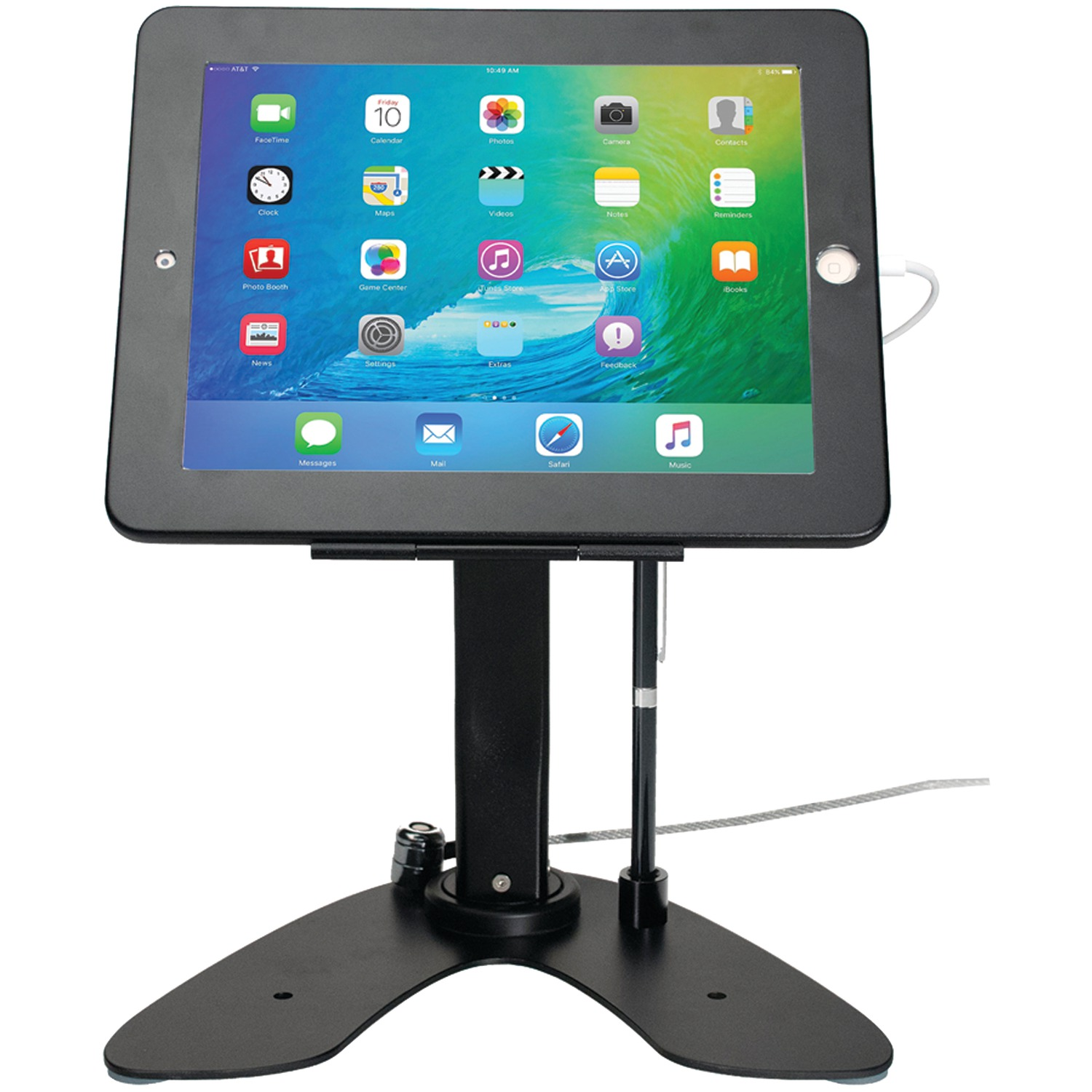 CTA Digital PAD-ASKB iPad/iPad Air Dual Security Kiosk Stand with Locking Case & Cable