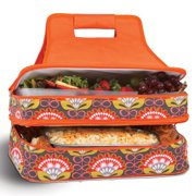 Picnic Plus Entertainer Orange Martini Hot and Cold Food Cooler Carrier