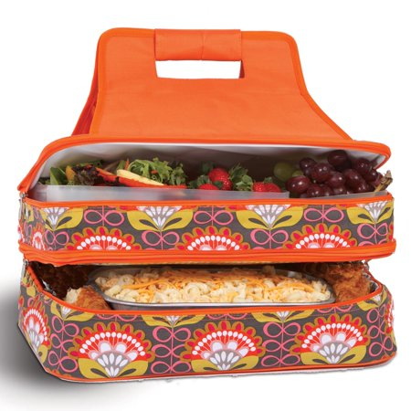 Picnic Plus Entertainer Orange Martini Hot and Cold Food Cooler Carrier Picnic Plus Trolley Cooler