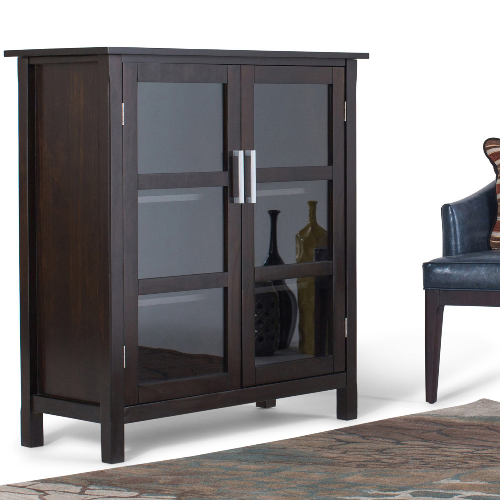 Simpli Home Kitchener Medium Storage Cabinet