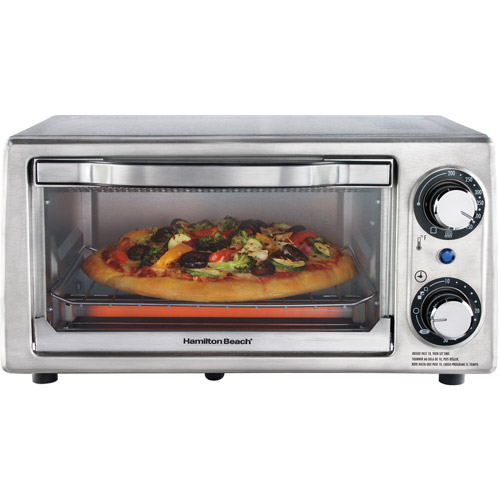 Hamilton Beach 4-Slice Toaster Oven, Stainless Steel