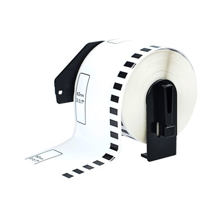 GREENCYCLE 1 Roll 62mm(2-3/7'')x 30.48m(100ft) Continuous White Paper Label Tape Compatible for Brother DK2205 DK-2205 with Cartridge Used in Brother QL-500 QL-550 QL-570 QL-700 QL-800 Printer