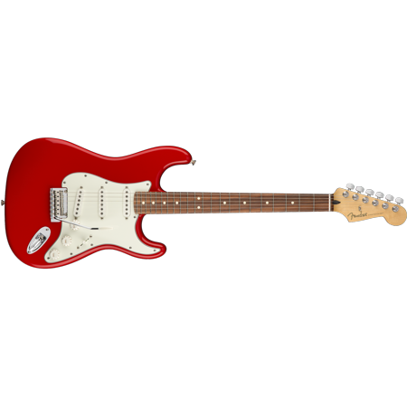 Fender Player Series Stratocaster, Pau Ferro Fingerboard, Sonic Red Finish (Fender Modern Player Hsh Stratocaster Electric Guitar)