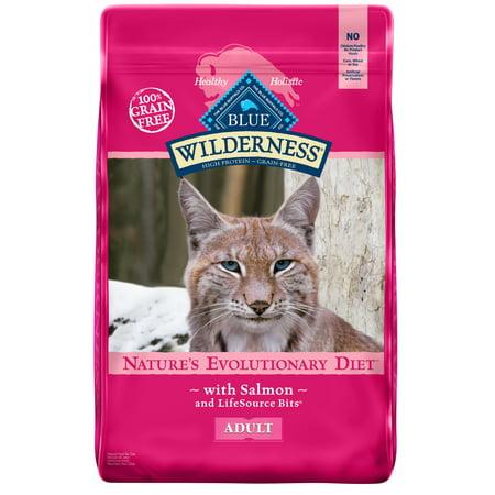 Blue Buffalo Wilderness Salmon High Protein Grain Free Adult Dry Cat Food,