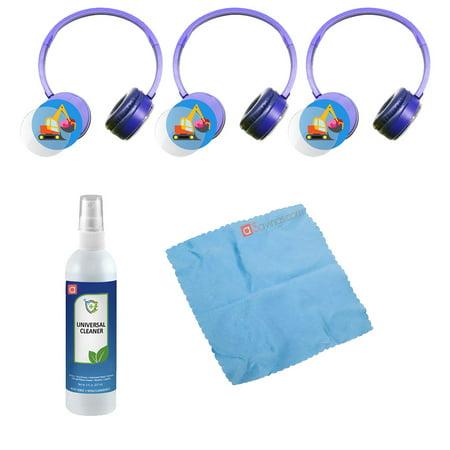 Hamilton Buhl Express Yourself Headphone - Blue (3 pack) & Accessory Kit