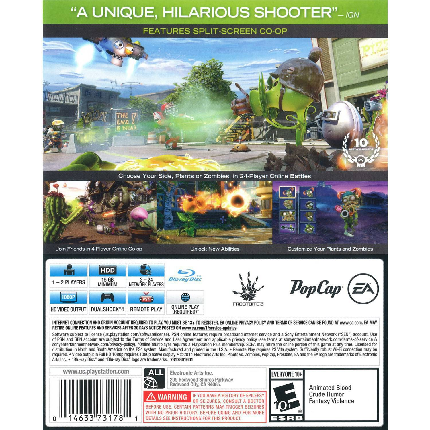 Plants Vs Zombies Garden Warfare 2 Festive Edition Ps4 Playstation 4 Video Game 14633731781 Ebay