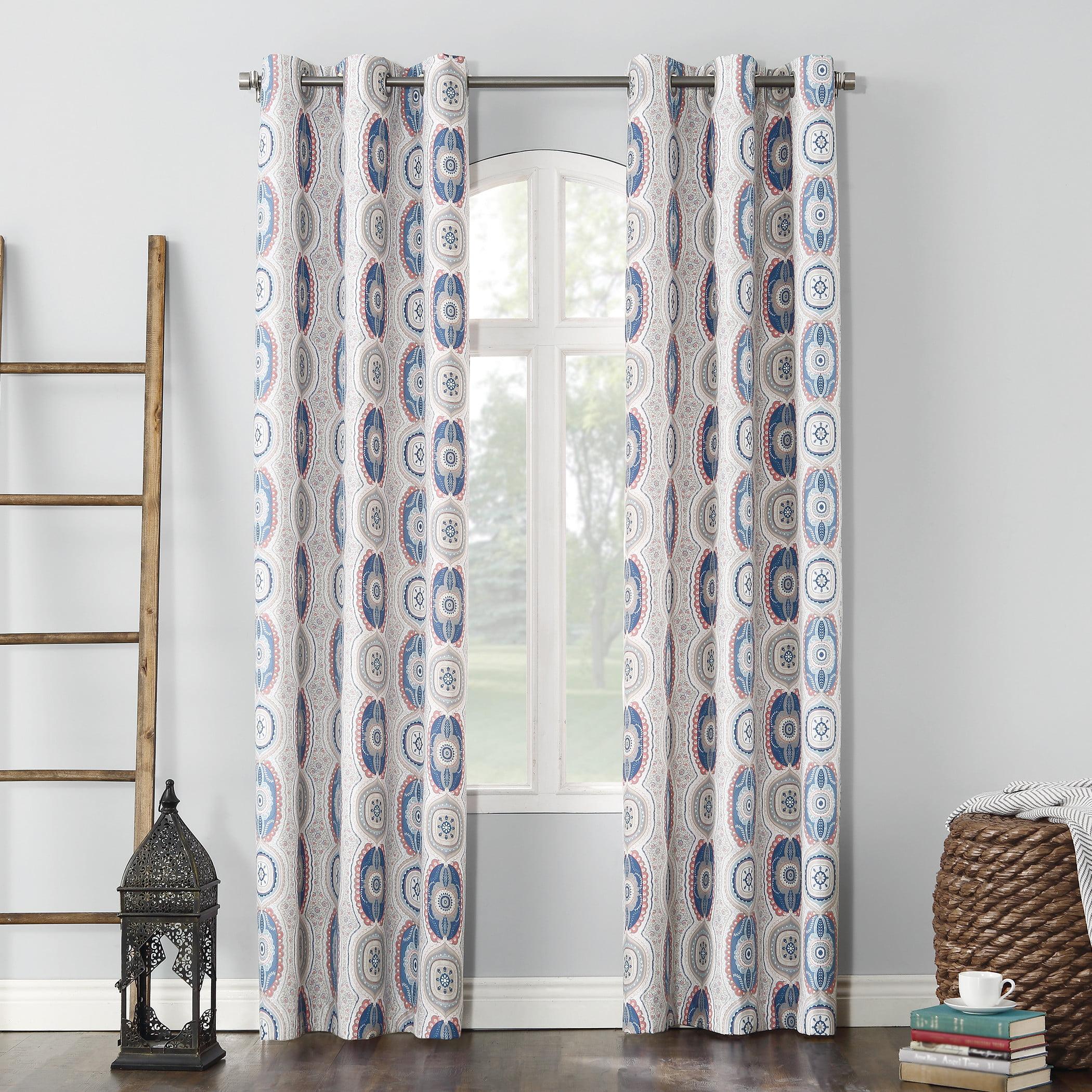 Sun Zero Cordoba Folklore Thermal Insulated Energy Efficient Grommet Curtain Panel