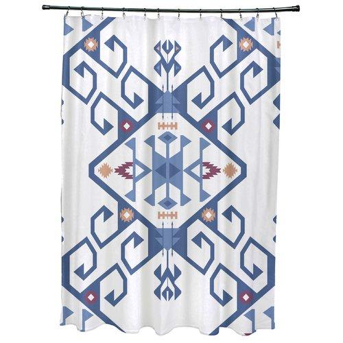 Bungalow Rose Meetinghouse Jodhpur Medallion 2 Geometric Print Shower Curtain