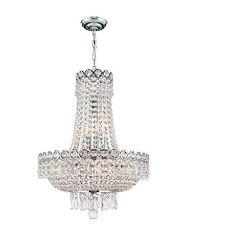 Empire Collection 8 Light Chrome Finish Crystal Chandelier 16