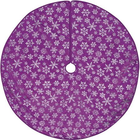 Holiday Time Christmas Decor Purple Snowflake Tree Skirt - Holiday Time Christmas Decor Purple Snowflake Tree Skirt - Walmart.com