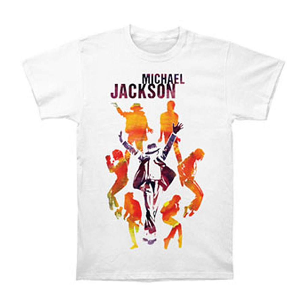 Michael Jackson Men's  Silhouettes T-shirt White