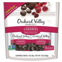 ORCHARD VALLEY HARVEST Dark Chocolate Cherries, Non-GMO, No Artificial Ingredients, 1 oz (Pack of 6)