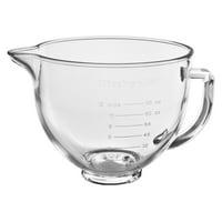 KitchenAid 5 Quart Tilt-Head Glass Bowl with Measurement Markings - KSM5NLGB