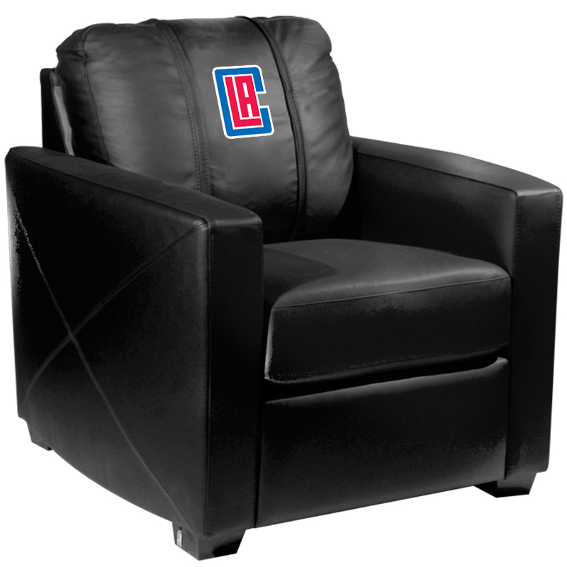 Los Angeles Clippers NBA Silver Chair with Secondary Logo Panel