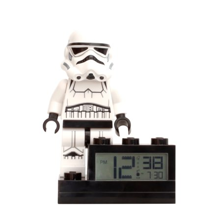 Clic Time - LEGO Star Wars Light Up Minifigure Alarm Clock, Storm Trooper ()