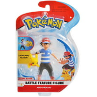 Pokemon 4.5 inches Cartoon Deluxe Action Battle Ash and Pikachu