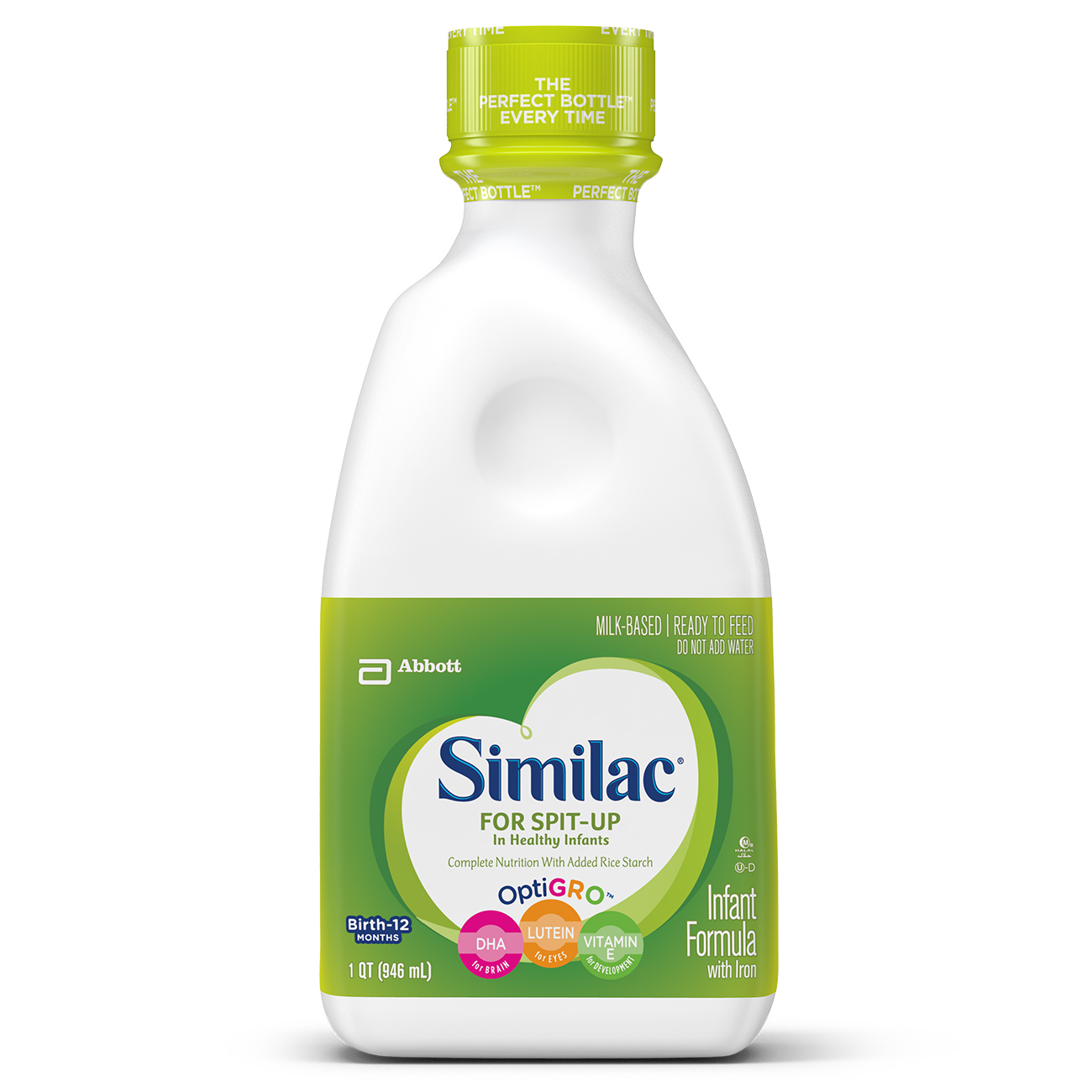 Similac For Spit-Up Infant Formula with Iron, Ready-to-Feed, 1 qt
