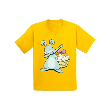 Awkward Styles Dabbing Easter Bunny Shirt for Kids Easter Bunny Tshirt Easter Shirt for Boys Happy Easter Easter Gifts for Girls Easter Bunny T Shirts Easter Holiday Shirts Easter Basket Stuffers - Happy Easter Bunny