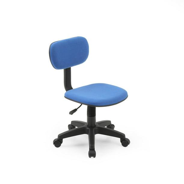 Hodedah Armless Adjustable Swiveling Kids Desk Chair Blue Walmart Com Walmart Com