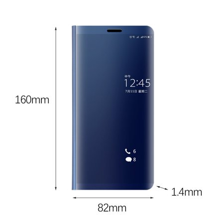 Compact Electroplated Vertical Mirror Phone Protection for Huawei Series - image 2 de 7