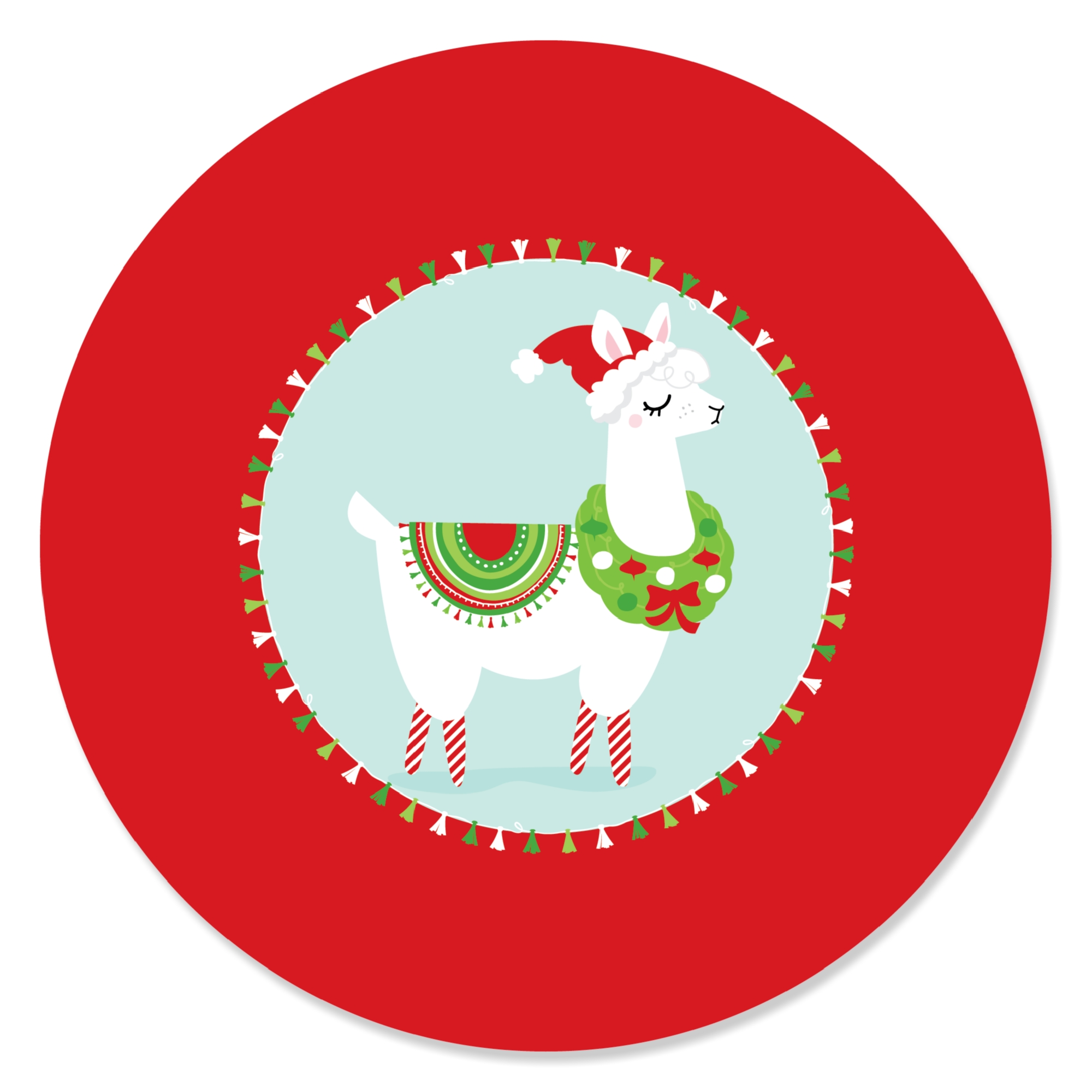 Fa La Llama - Christmas Holiday Party Sticker Labels - 24 Count