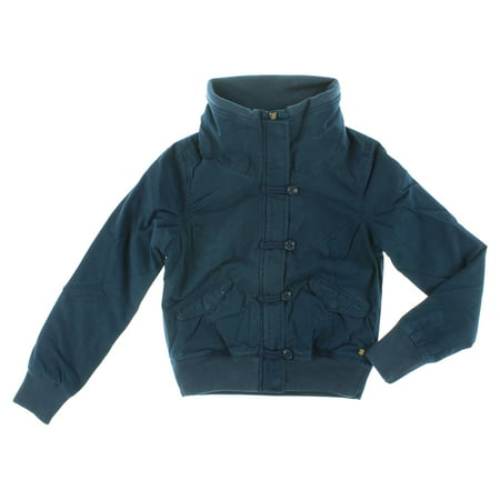 Adidas Womens Padded Bomber Jacket Navy Blue