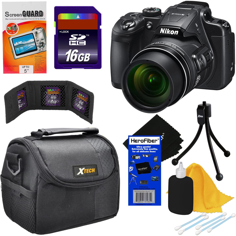 Nikon COOLPIX B700 20MP CMOS Wi-Fi, NFC Digital Camera with 60x Zoom Lens & UHD 4K Video (Black) + 7pc 16GB Accessory Kit w/ HeroFiber Ultra Gentle Cleaning Cloth
