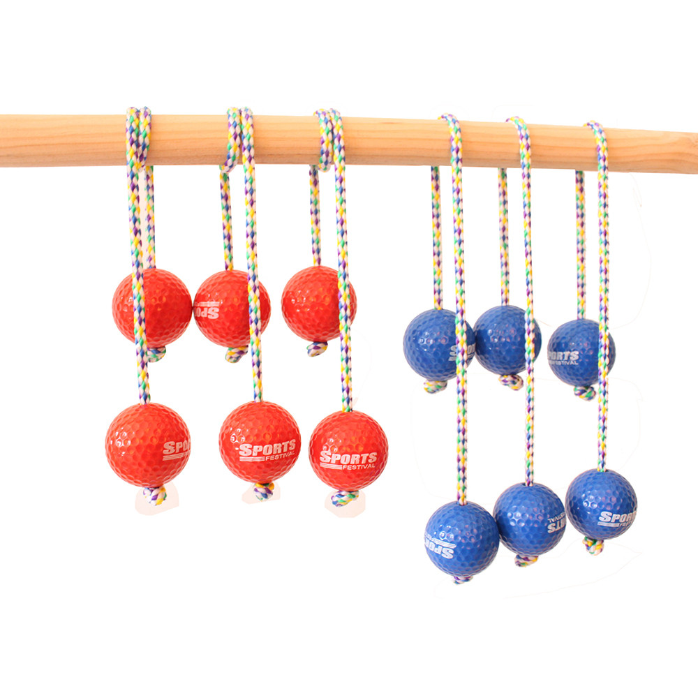 DZT1968 Sports Festival Ladder Toss Bolas Replacement Set with Real Golf Balls (6-Pack) by