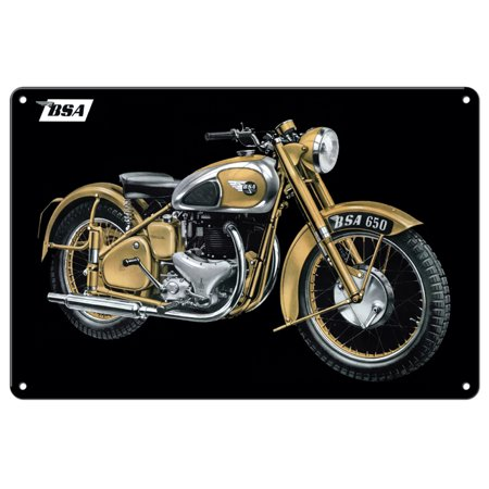 "BSA Classic British Motorcycle Sign 12""x18""""  CSRG101B"