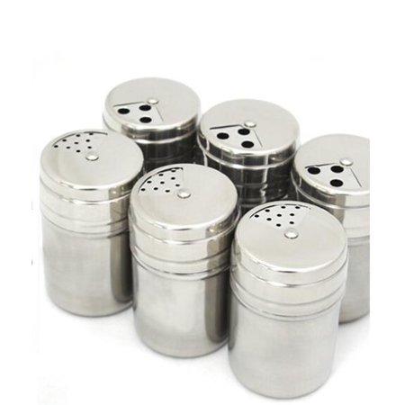 1Pc Stainless Steel Spice Shaker Seasoning Condiment Jar Sugar Salt Pepper Shaker Bottle Container - image 4 de 7