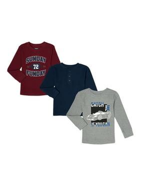 Garanimals Baby Boys & Toddler Boys Long Sleeve Thermal Tops, 3-Pack (12M-5T)