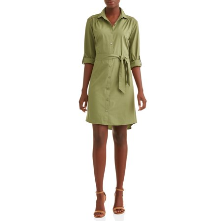 Women's Roll Tab Shirt Dress - Galadriel Dress