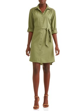 69b43fdad3 Product Image Women s Roll Tab Shirt Dress