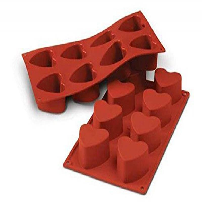 Silikomart SF040/C Silicone Classic Collection Mold Shapes, Heart, Small