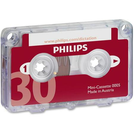 Philips, PSPLFH000560BX, Speech Mini Dictation Cassette, 10, Red ()