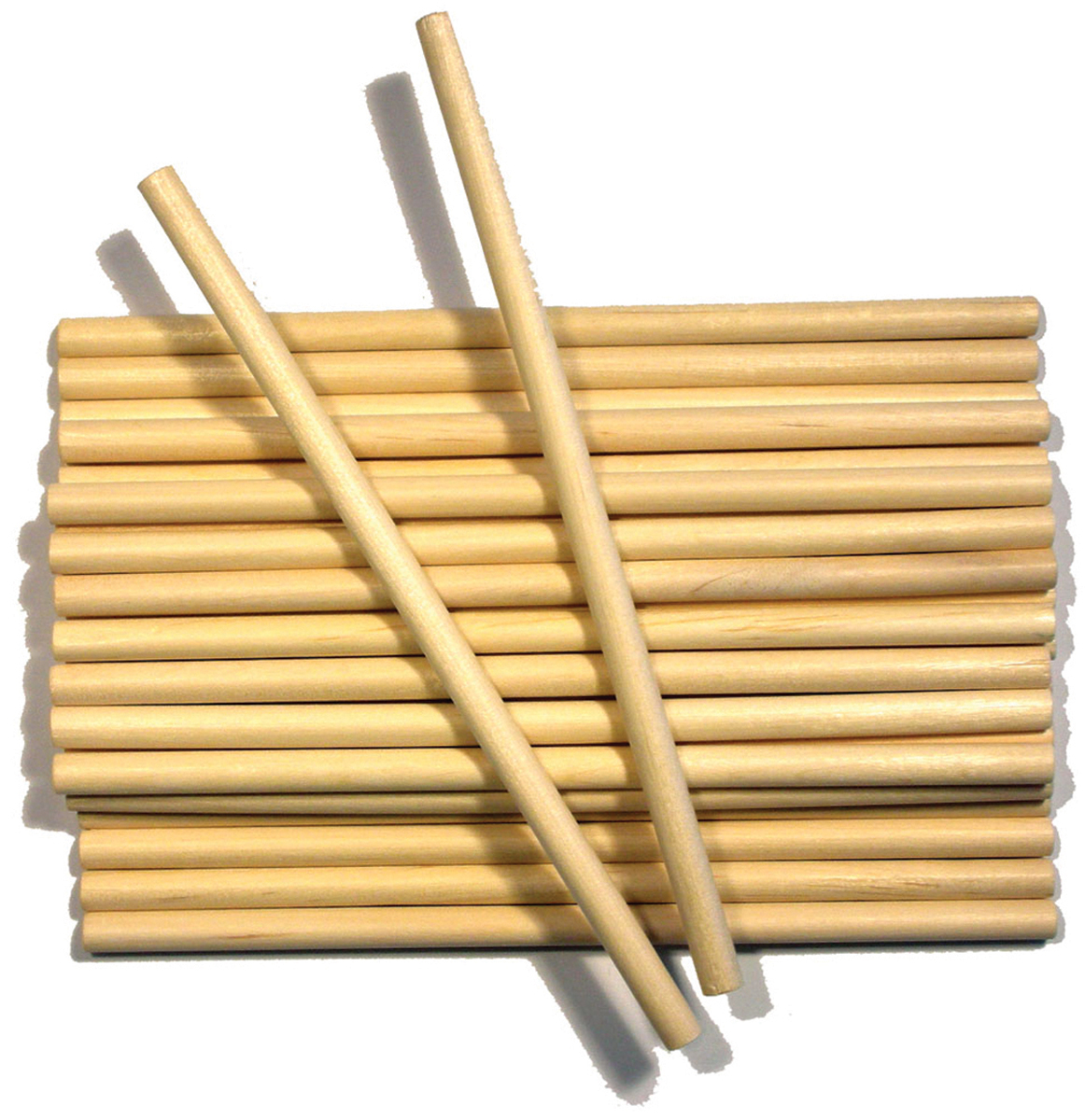 Wood Craft Dowels 6`-1/4` 30/Pkg Multi-Colored