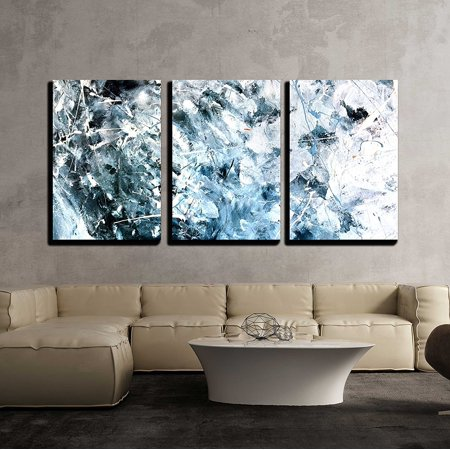 Textured Canvas (wall26 - 3 Piece Canvas Wall Art - Abstract acrylic painted texture background - Modern Home Decor Stretched and Framed Ready to Hang - 16
