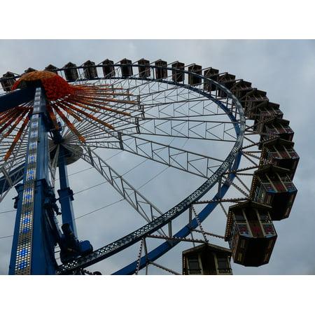 LAMINATED POSTER Oktoberfest Ferris Wheel Ride Folk Festival Munich Poster Print 24 x 36