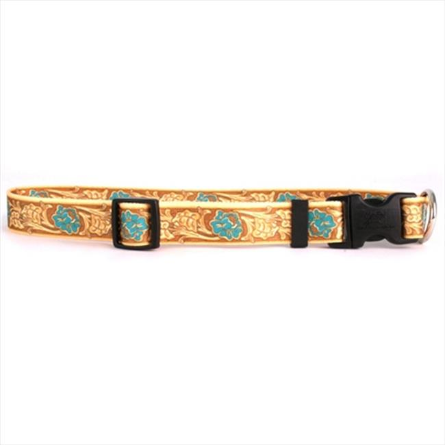 Yellow Dog Design LRT101S Leather Rose Teal Standard Collar - Small