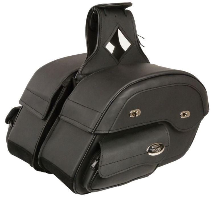 Milwaukee Cruiser Style Slant Pouch Throw Over Saddle Bag